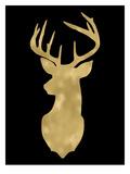 Deer Head Left Face Golden Black