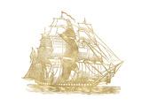 Ship 3 Golden White
