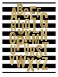 Alphabet Black White Stripe