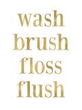Wash Brush Floss Golden White
