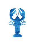 Watercolor Blue Lobster Reproduction d'art par Jetty Printables