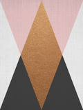 Geometric Pink Bronze Reproduction d'art par LILA X LOLA
