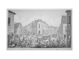 The Five Points  Junction of Baxter  Worth and Park Streets  New York  C1829