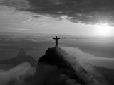 Statue of Jesus  known as Cristo Redentor (Christ the Redeemer)  on Corcovado Mountain in Rio De Ja