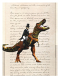 Lincoln T Rex Reproduction d'art par Matt Dinniman
