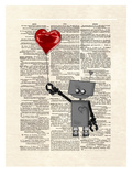 Robot Love Reproduction d'art par Matt Dinniman