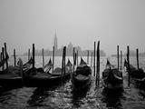 Gondolas and the Church of San Giorgio Maggiore  Venice  Veneto  Italy