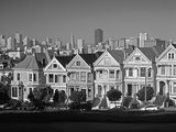 Alamo Square and City Skyline  San Francisco  California Usa