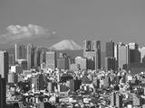 MtFuji and Tokyo Shinjuku Area Skyline  Tokyo  Japan