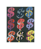 $9, 1982 (on black) Giclée par Andy Warhol