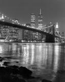 Brooklyn Bridge with World Trade Center Reproduction d'art par Christopher Bliss