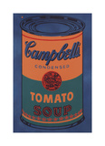 Colored Campbell's Soup Can  1965 (blue & orange)