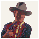 Cowboys & Indians: John Wayne, 1986 Reproduction d'art par Andy Warhol