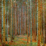 Tannenwald (forêt de pins), vers 1902 Reproduction d'art par Gustav Klimt