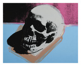 Skull, 1976 (white on blue and pink) Reproduction d'art par Andy Warhol