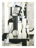 Still Life with Guitar Reproduction d'art par Juan Gris