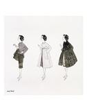 Three Female Fashion Figures  c 1959
