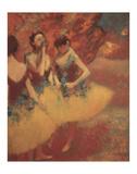 Three Dancers in Yellow Skirts  1891