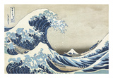 The Great Wave at Kanagawa Reproduction d'art par Katsushika Hokusai