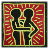 Untitled  1982 (couple in black  red  and green)