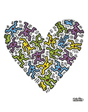 Untitled, 1985 (heart) Reproduction d'art par Keith Haring