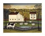 White Farm Reproduction d'art par Diane Ulmer Pedersen