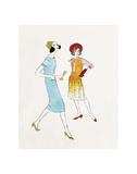 Two Female Fashion Figures, c. 1960 Reproduction d'art par Andy Warhol