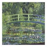 Water Lily Pond, 1899 (blue) Reproduction d'art par Claude Monet