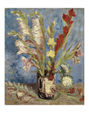 Vase with Gladioli and China Asters, 1886 Reproduction d'art par Vincent Van Gogh