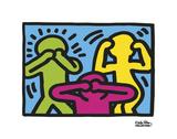 Untitled, 1989 (no evil) Reproduction d'art par Keith Haring