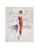 Female Fashion Figure, c. 1959 Reproduction d'art par Andy Warhol