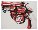 Gun  c 1981-82 (black and red on white)