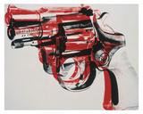 Gun  c 1981-82 (black and red on white)