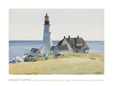 Lighthouse and Buildings  Portland Head  1927