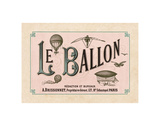 Le Ballon, ca. 1883 Reproduction d'art par Vintage Reproduction