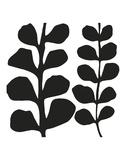 Maidenhair (black on white)