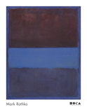 No 61 (Rust and Blue) [Brown Blue  Brown on Blue]  1953