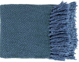 Trina Throw - Cobalt/Teal