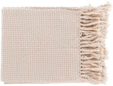 Tierney Throw - Pastel Pink/Ivory