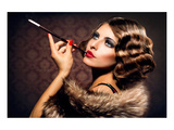 Cigarette Smoking Lady