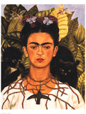 Portrait with Necklace Giclée premium par Frida Kahlo