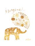 Imagine Elephant Reproduction d'art par Katie Doucette
