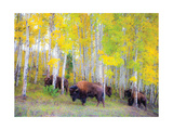 Autumn Buffs Reproduction d'art par Gary Crandall