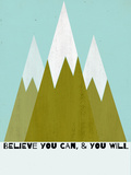 Believe You Can-Mountains - Silouhette Typography