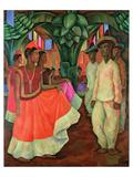 Tehauntepec Dance Reproduction d'art par Diego Rivera