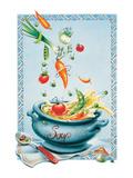 Vegetable Soup Reproduction d'art par Renate Holzner