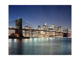 Brooklyn Bridge at Night 3 - New York City Skyline at Night  Color