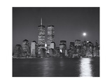 World Financial Center  Moon - View of New York City from New Jersey  Night