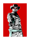 Jamie Foxx - Django Giclée par Emily Gray