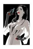 Eva Green - I've Been Especially Bad Giclée par Emily Gray